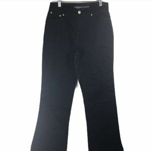 Liz Claiborne Black Jeans 14P Hepburn Fit NEW